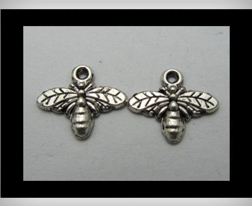 Zamak Silver Plated Bead CA-3198