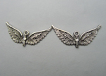 Zamak silver plated bead CA-3200