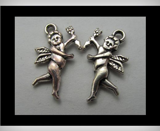Buy Zamak silver plated bead CA-3209 at wholesale prices