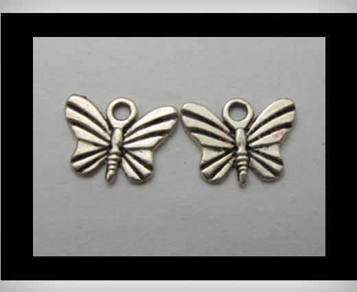 Zamak Silver Plated Bead CA-3215