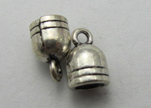 Zamak silver plated bead CA-3218