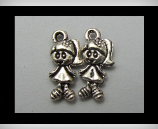 Buy Zamak silver plated bead CA-3221 at wholesale prices