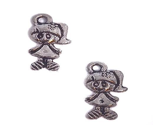 Zamak silver plated bead CA-3221