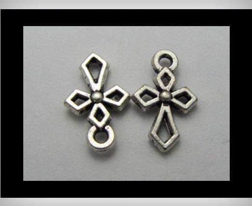 Zamak silver plated bead CA-3225