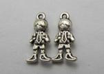 Zamak silver plated bead CA-3227