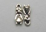 Zamak silver plated bead CA-3228