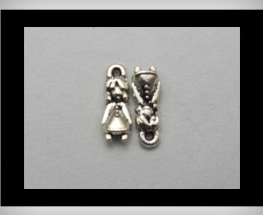 Buy Zamak silver plated bead CA-3228 at wholesale prices