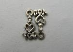 Zamak Silver Plated Bead CA-3229