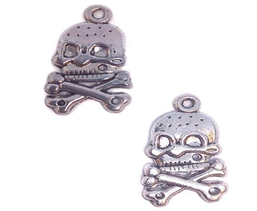 Zamac Silver Plated Beads CA-3232