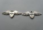 Zamak Silver Plated Bead CA-3241