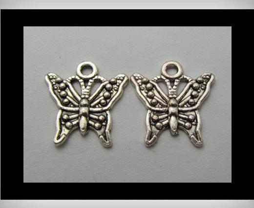 Zamak Silver Plated Bead CA-3245
