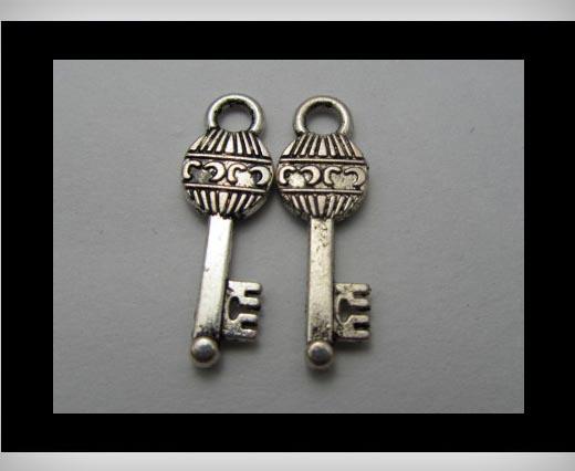 Zamak Silver Plated Bead CA-3247