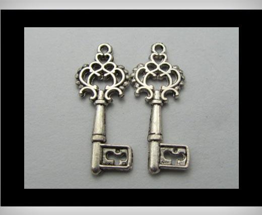 Zamak Silver Plated Bead CA-3250