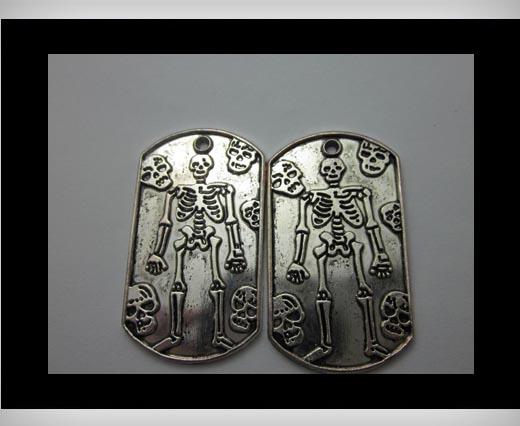 Zamak Silver Plated Bead CA-3253