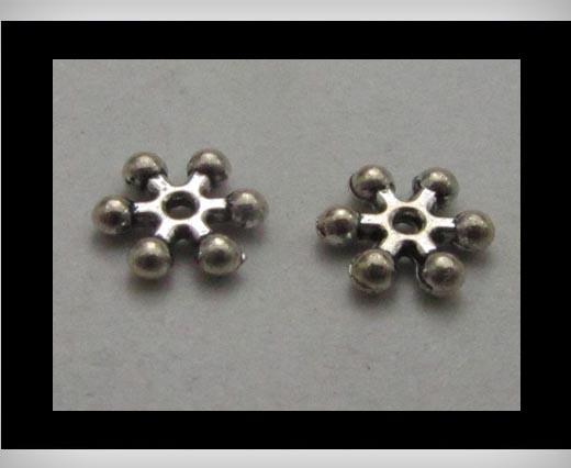 Zamak Silver Plated Bead CA-3267