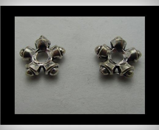 Zamak Silver Plated Bead CA-3294