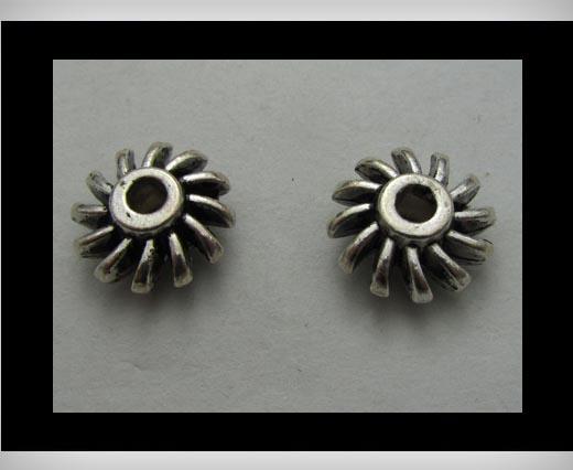 Zamak Silver Plated Bead CA-3303