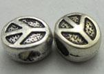Zamak Silver Plated Beads CA-3378