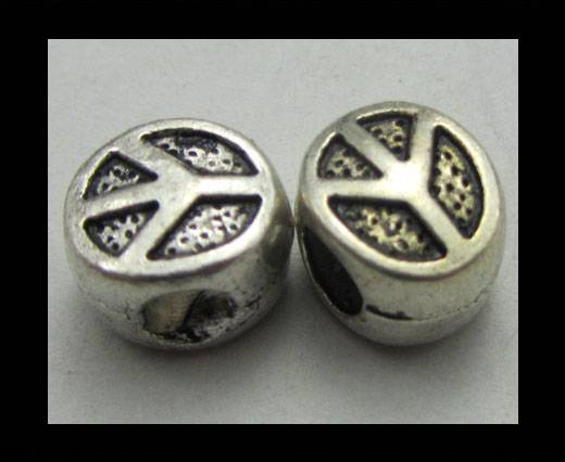 Zamak Silver Plated Beads CA-3378