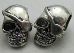 Zamak Silver Plated Beads CA-3387