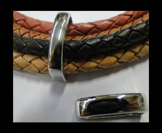 Zamak part for leather CA-4670-Steel Colour