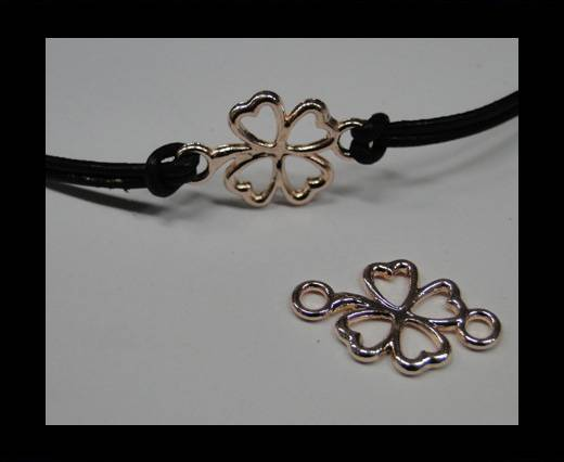 Zamak part for leather CA-4708-Rose gold