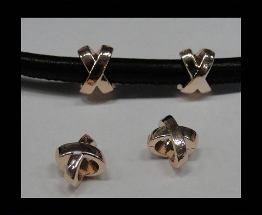 Zamak part for leather CA-4715-Rose gold
