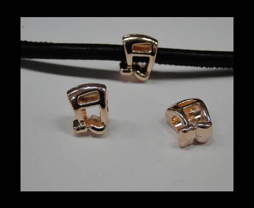 Zamak part for leather CA-4729-Rose gold