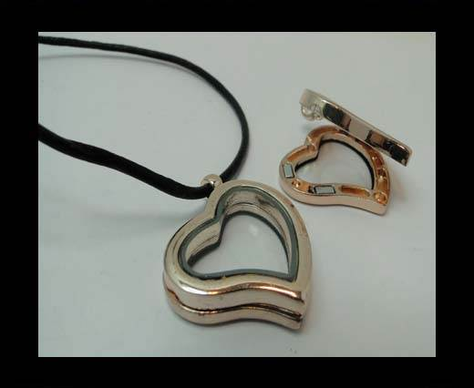 Zamak pendal CA-4787-29*35mm-ROSE GOLD