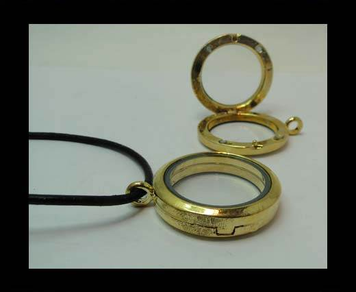zamak part for leather CA-4791-30mm-GOLD