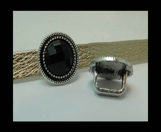 Zamak part for leather CA-4798-10*7mm-BLACK