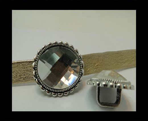 Zamak part for leather CA-4809-10*7mm-CRYSTAL