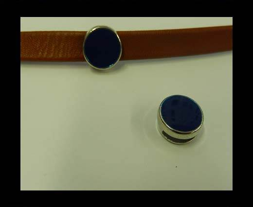 Zamak part for leather CA-4826-10*3mm-Blue