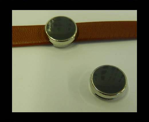 Zamak part for leather CA-4826-10*3mm-Grey
