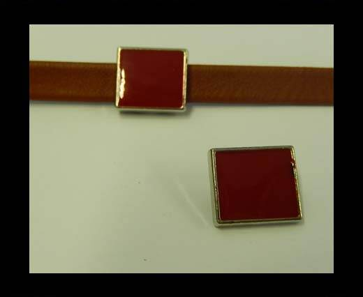 Zamak part for leather CA-4827-10*3mm-Red