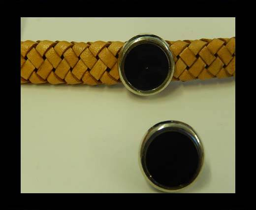 Zamak part for leather CA-4829-27*15mm-Black