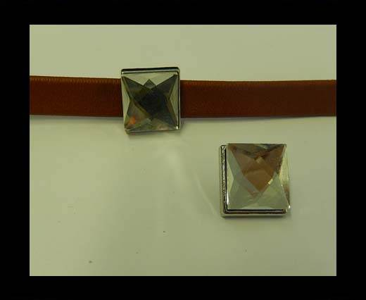 Zamak part for leather CA-4833-6*2mm-Crystal