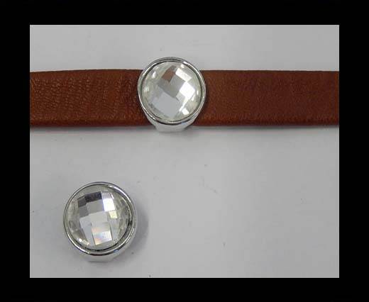Zamak part for leather CA-4841-9*3mm-Crystal