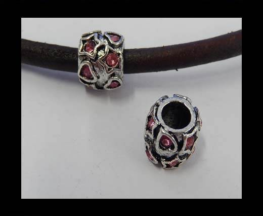 Zamak part for leather CA-4872-5mm-Light Rose