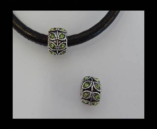 Zamak part for leather CA-4874-5mm- Peridot