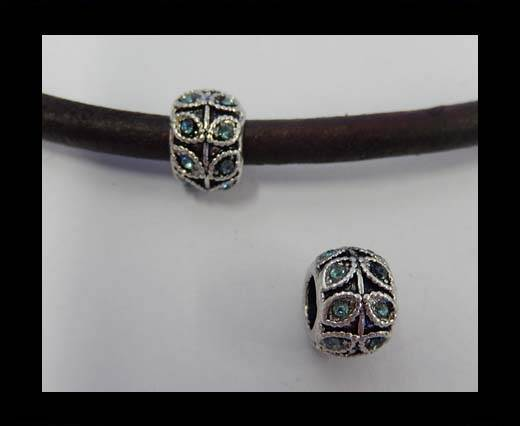 Zamak part for leather CA-4874-5mm-Turquoise