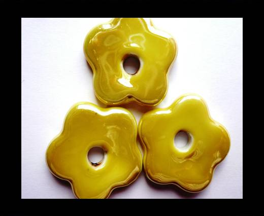 Buy CB-Ceramic Flower-Small Flower-Yellow AB at wholesale prices
