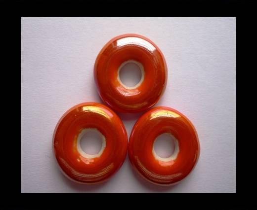 CB-Ceramic Flower-Small Donuts-Orange AB