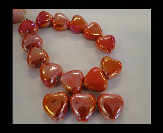 Buy CB-Ceramic Heart - Red AB at wholesale prices