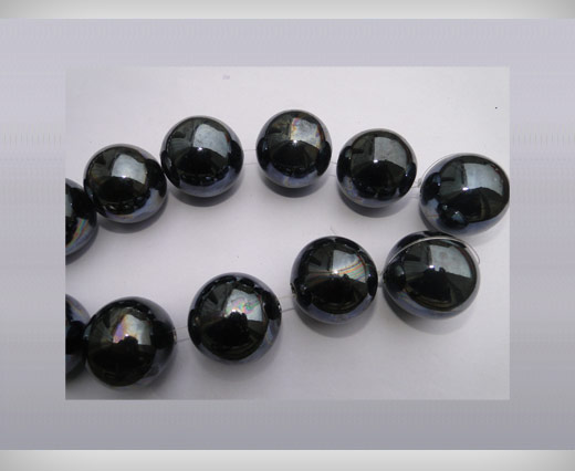 Buy Ceramic Beads-16mm-Black at wholesale prices