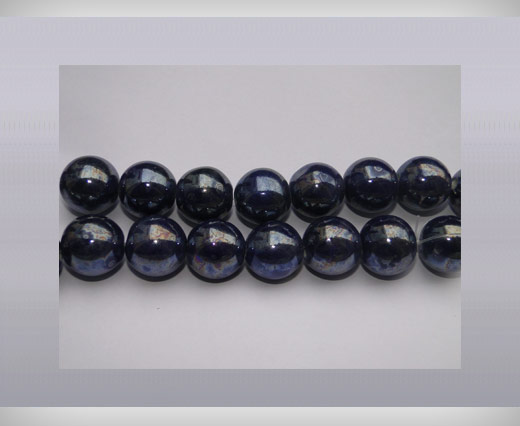 Ceramic Beads-16mm-Dark-Blue