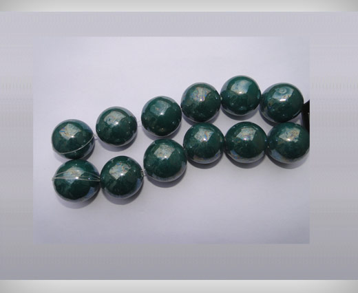 Buy Ceramic Beads-16mm-Green at wholesale prices