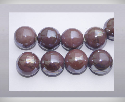 Buy Ceramic Beads-16mm-Purple at wholesale prices