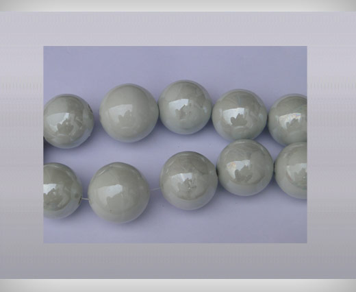 Buy Ceramic Beads-16mm-White at wholesale prices