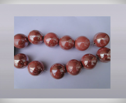 Buy Ceramic Beads-21mm-Pink at wholesale prices
